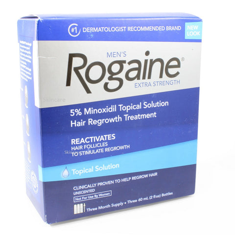 Rogaine (Regaine) 3 Month Topical Solution 5% Minoxidil Men's Hair Loss Treatment