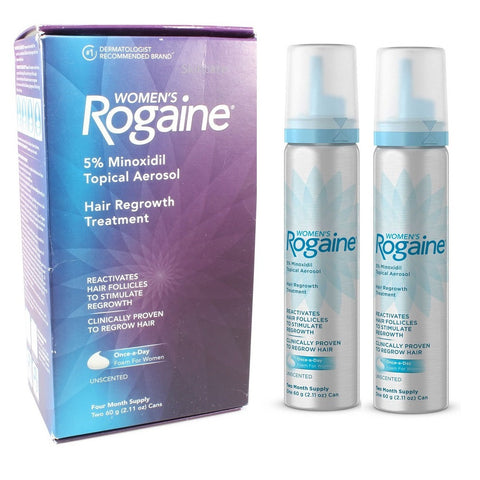 Rogaine (Regaine) 4 Month Foam 5% Minoxidil Women's Hair Loss Treatment