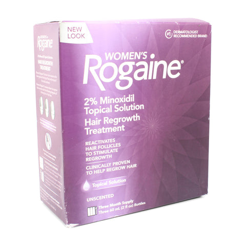 Rogaine (Regaine) 3 Month Topical Solution 2% Minoxidil Women's Hair Loss Treatment