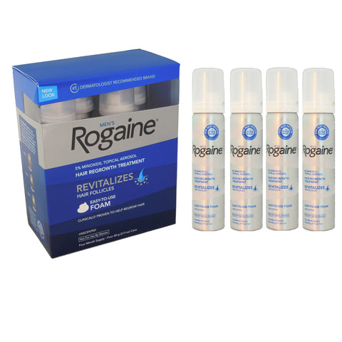 Rogaine (Regaine) 4 Month Foam 5% Minoxidil Men's Hair Loss Treatment