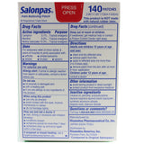 Salonpas 140 Patches for Pain Relief in Muscles and Joints 7.2 x 4.6 cm