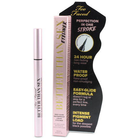Too Faced 0.6mL Better Than Sex Waterproof Liquid Eyeliner (Deepest Black)