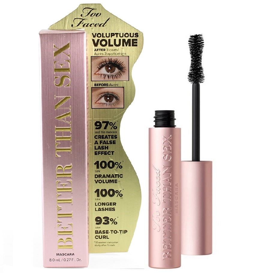 Too Faced 8mL Better Than Sex Volumising Mascara Full Size (Non-Waterproof)