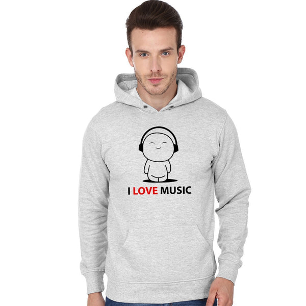 I Love Music - Men Hoodies