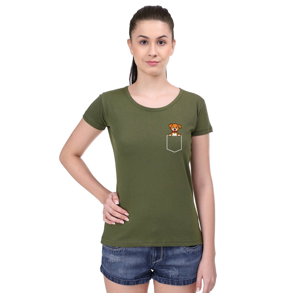 Pocket Dog -  Women T-Shirts