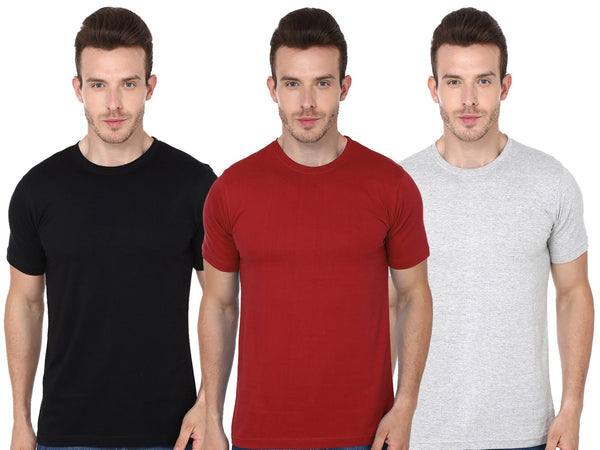 Round T-Shirt Combo Pack of 3