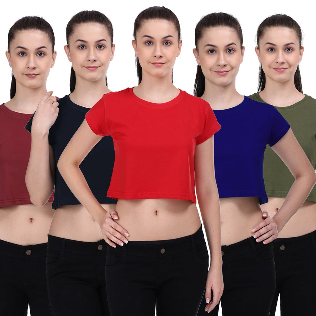 Crop Top Combo Pack of 5