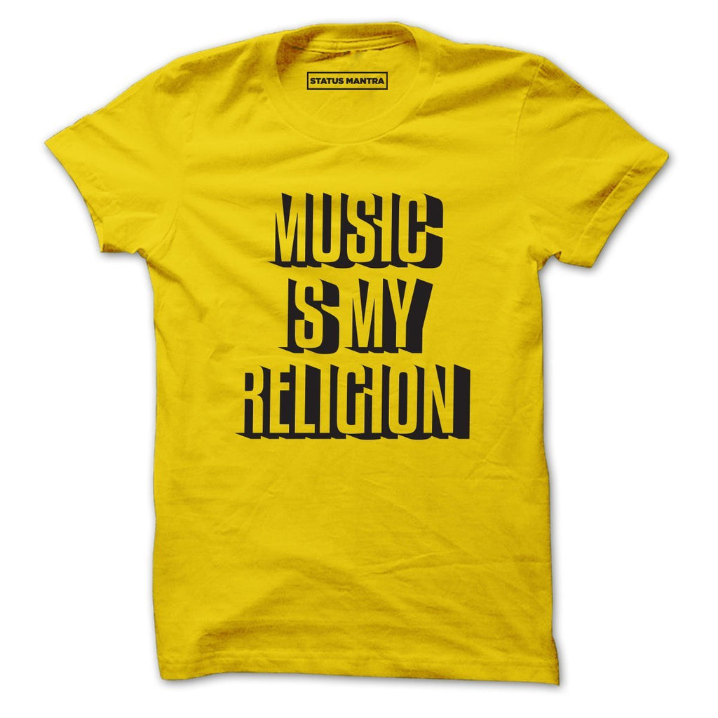 Music Is My Religion - Men T-Shirts