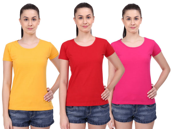 Women T-shirts Combo Pack of 3