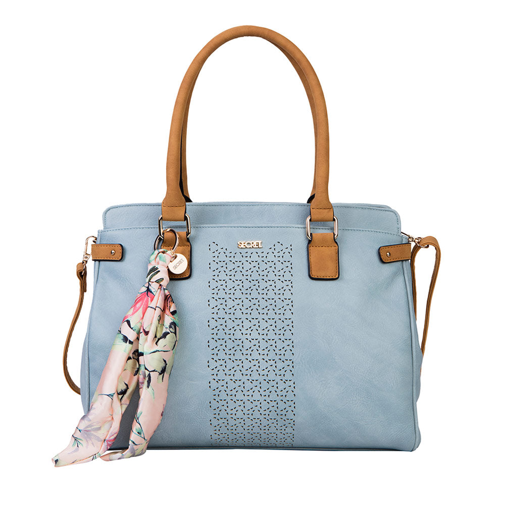 Cartera Surinam Tote Light Blue Xl