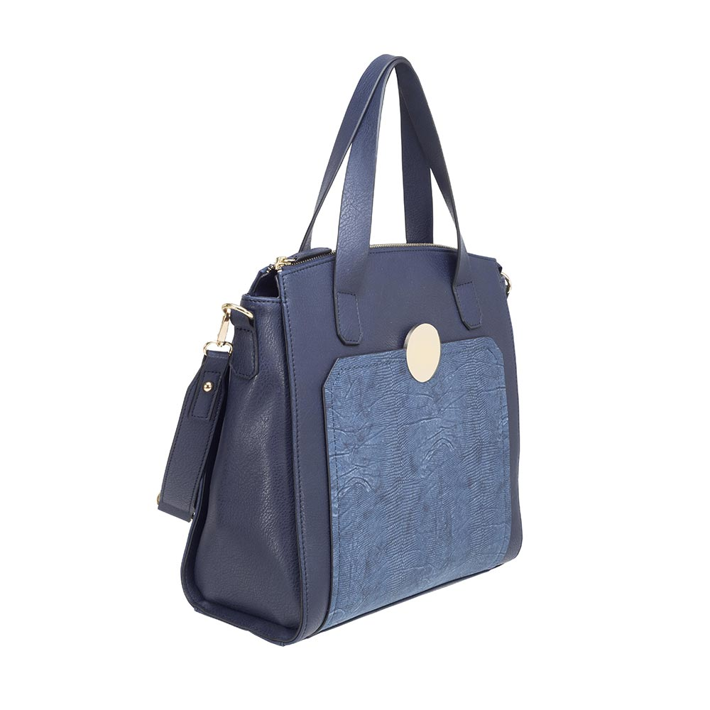 Cartera Sorrento Satchel Bag Azul L
