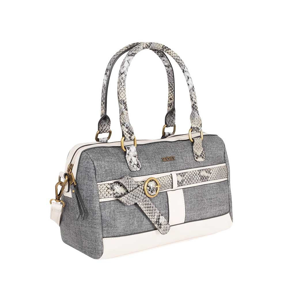 Cartera Baru Ss20 Satchel Bag Grey M