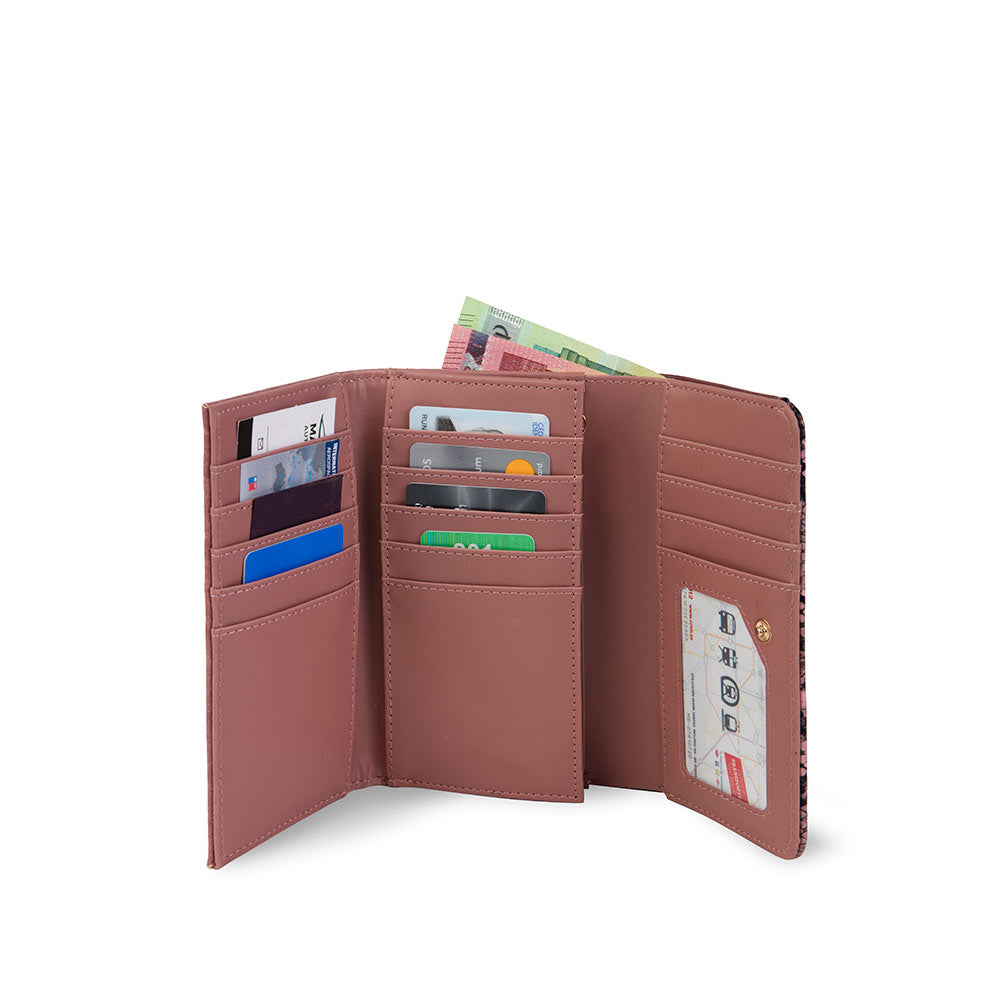 Billetera Odese Fw20 Trifold Rose M