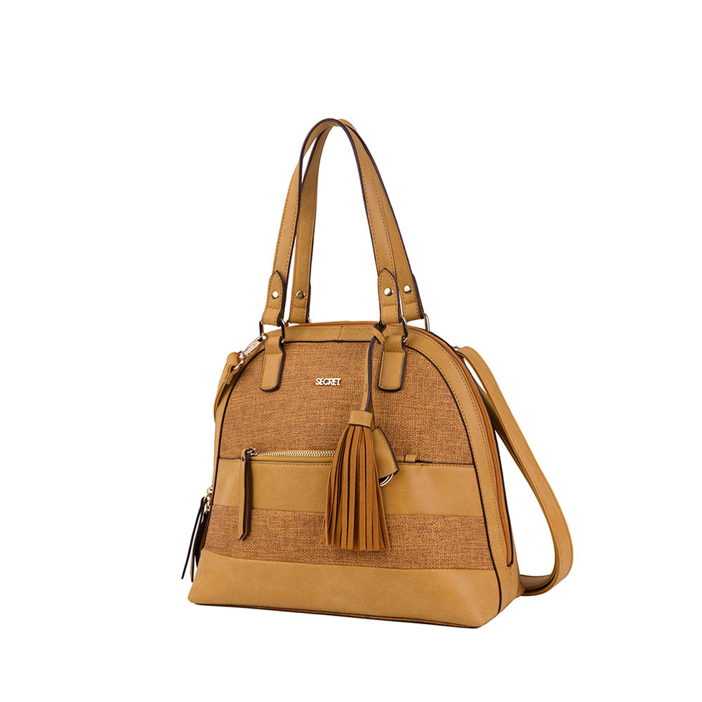 Cartera Malasia Satchel Medium Brown L