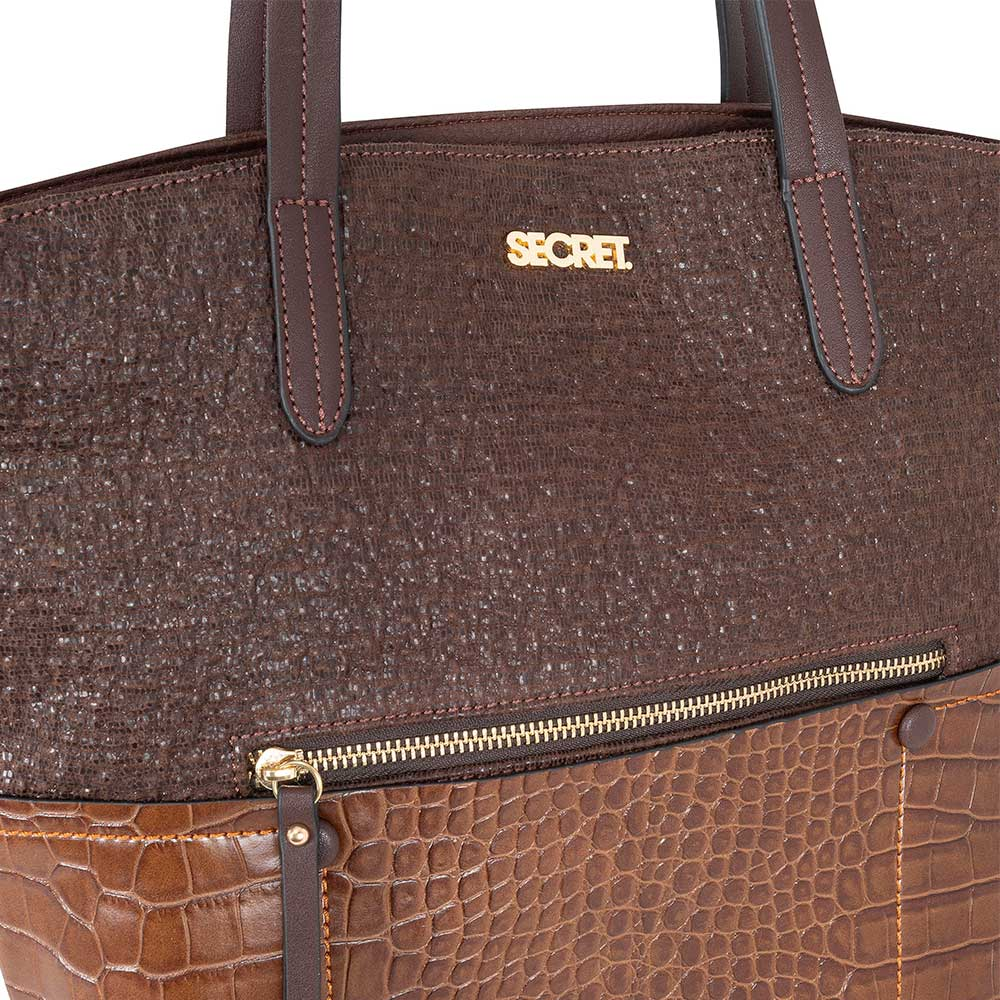 Cartera Chicago Tote Dark Brown M