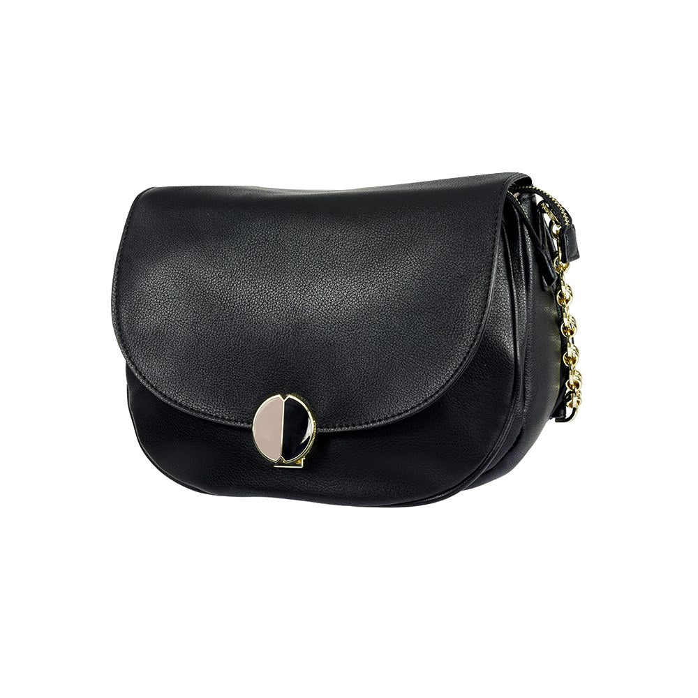 Cartera Sphinx Round Shoulder Bag M Black