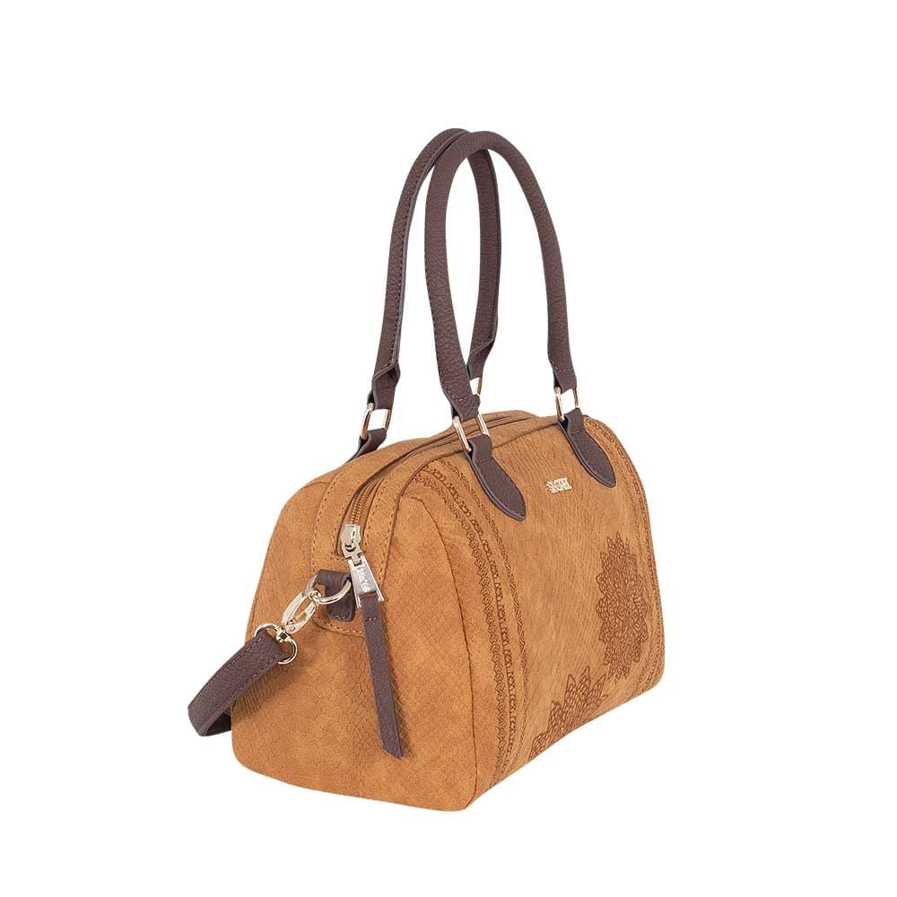 Cartera Buton Ss20 Satchel Bag Medium Brown M
