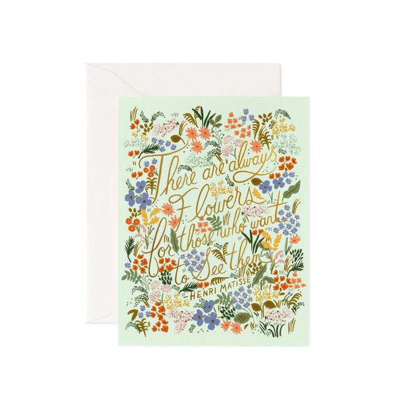 RIFLE PAPER CO - SINGLE CARD - MATISSE QUOTE