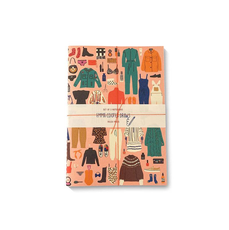 Emma Cooter Draws Set of 3 Notebooks | Ruled Pages