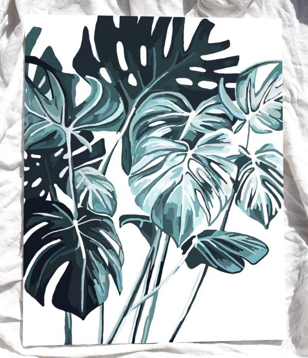 Paint Like Frida- Monstera