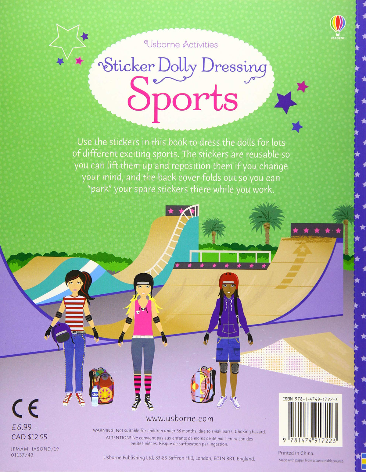 Sticker Dolly Dressing Sports