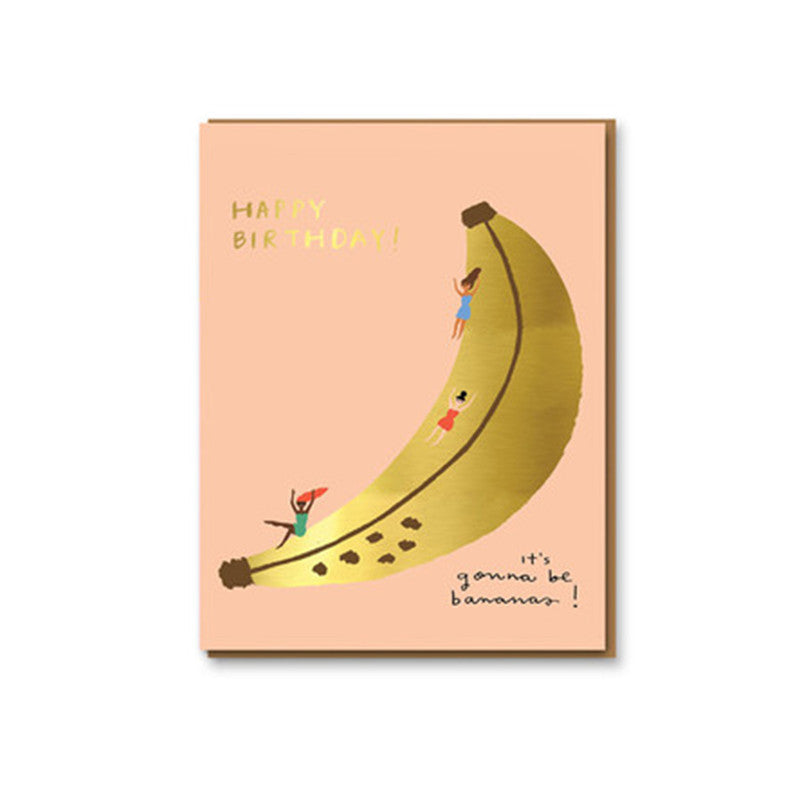 CAROLYN SUZUKI - SINGLE CARD- BANANA SLIDE