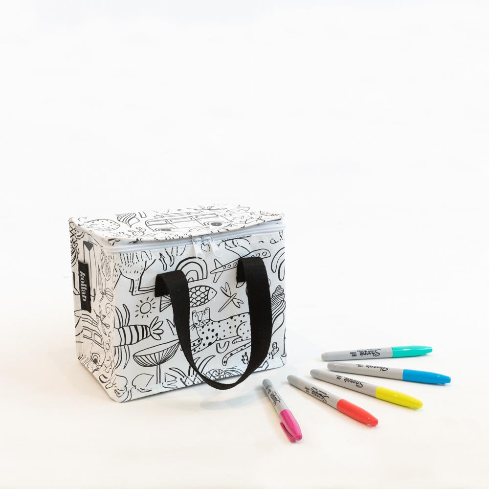 Kollab Lunch Box | Holiday Colour In & Sharpie Set