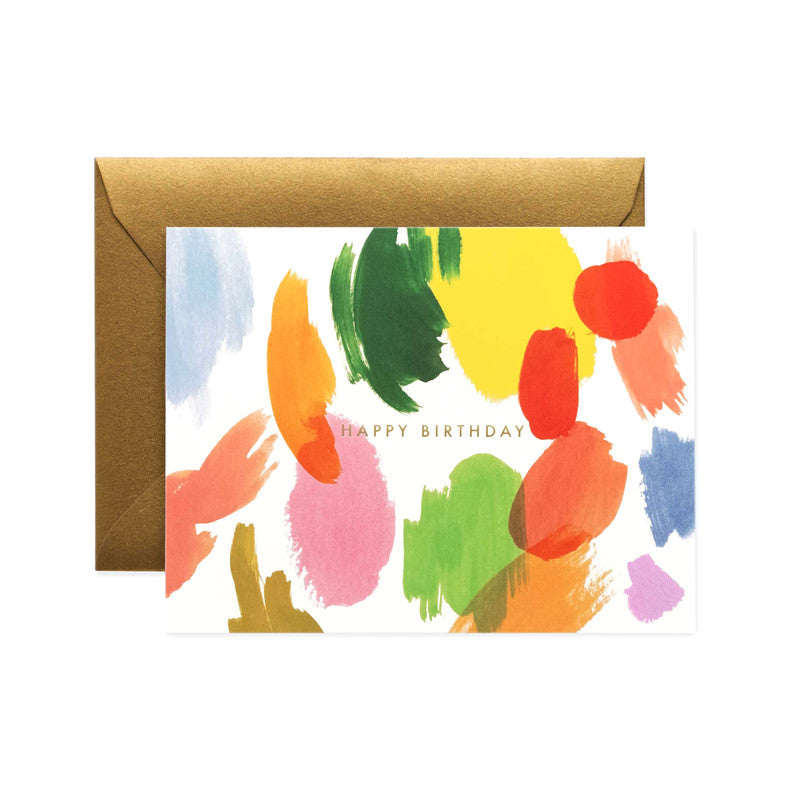 RIFLE PAPER CO - SINGLE CARD - PALETTE BIRTHDAY