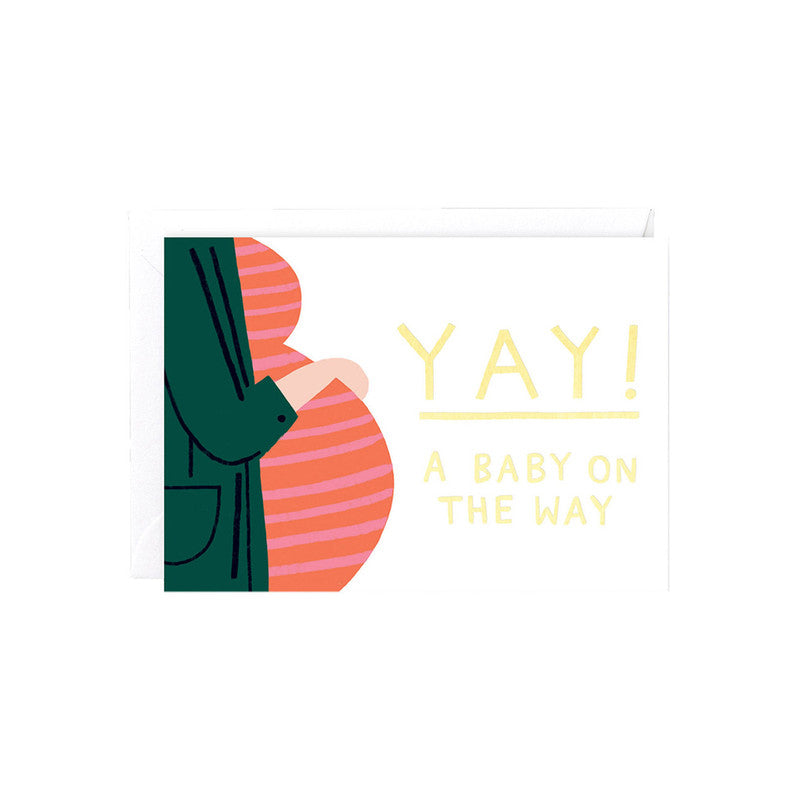 WRAP - SINGLE CARD - YAY A BABY ON THE WAY