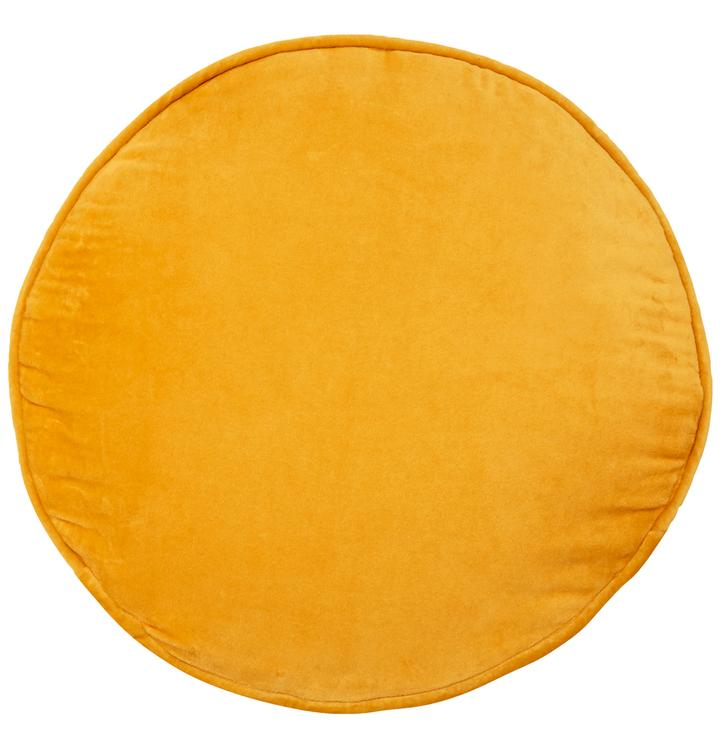 Yellow Velvet Round Cushion | Castle and Things