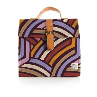 Road Less Travelled Burgundy Lunch Satchel