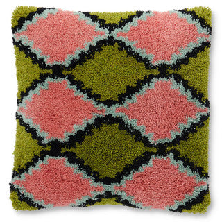 Kip & Co Diamonds Wool Shag Cushion