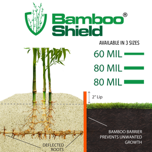Bamboo Shield for Colder Climates – 60 mil thick x 24″ depth