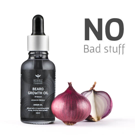 Our Onion Oil for Beard Growth is SLS and Paraben Free
