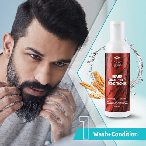 Step 1 : Wash your beard with the Beard Shampoo and Conditioner