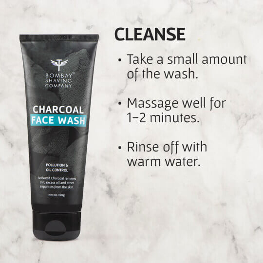 Cleanse your face with Charcoal Face Wash from Bombay Shaving Company