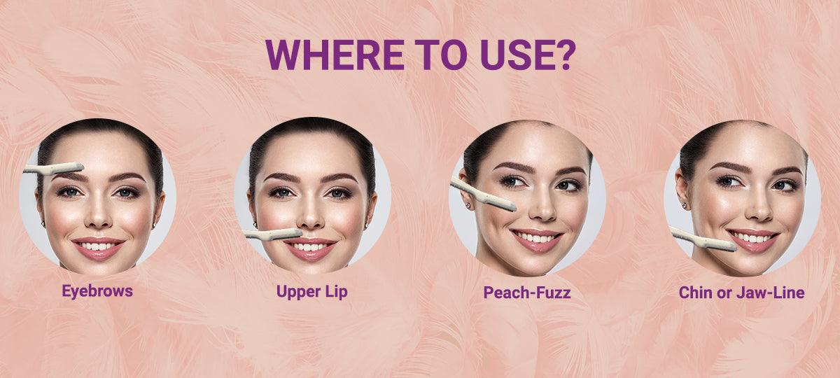 Where can you use the Face Razor For Women