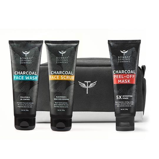 CHARCOAL FACE CARE ESSENTIALS WITH TRAVEL KIT