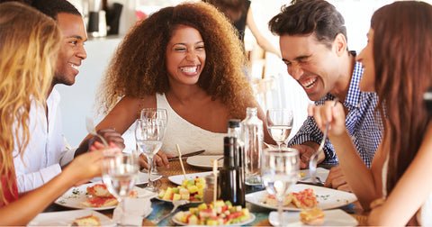 People eating and spending time together