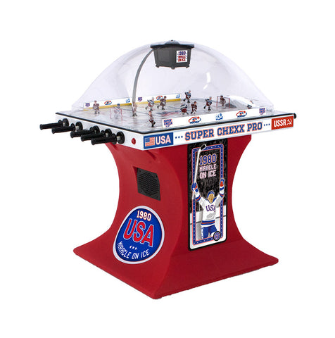 "Licensed ""Miracle on Ice"" Edition Super Chexx PRO Bubble Hockey Table"