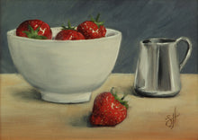 Load image into Gallery viewer, Strawberries & Cream Giclée Print