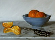 Load image into Gallery viewer, Oranges in Blue Bowl