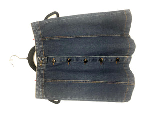 Denim Button Front Skirt - AK Wears Things