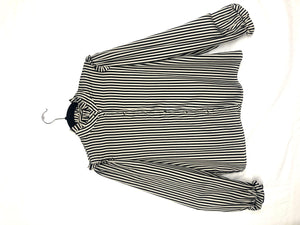 Striped Blouse - Ruffle at Shoulder - AK Wears Things