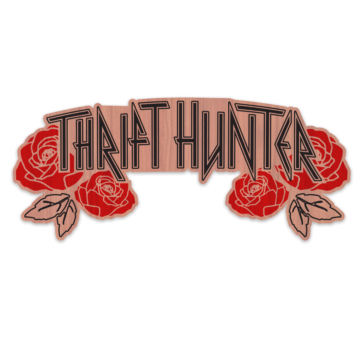 Thrift Hunter Wood Sticker