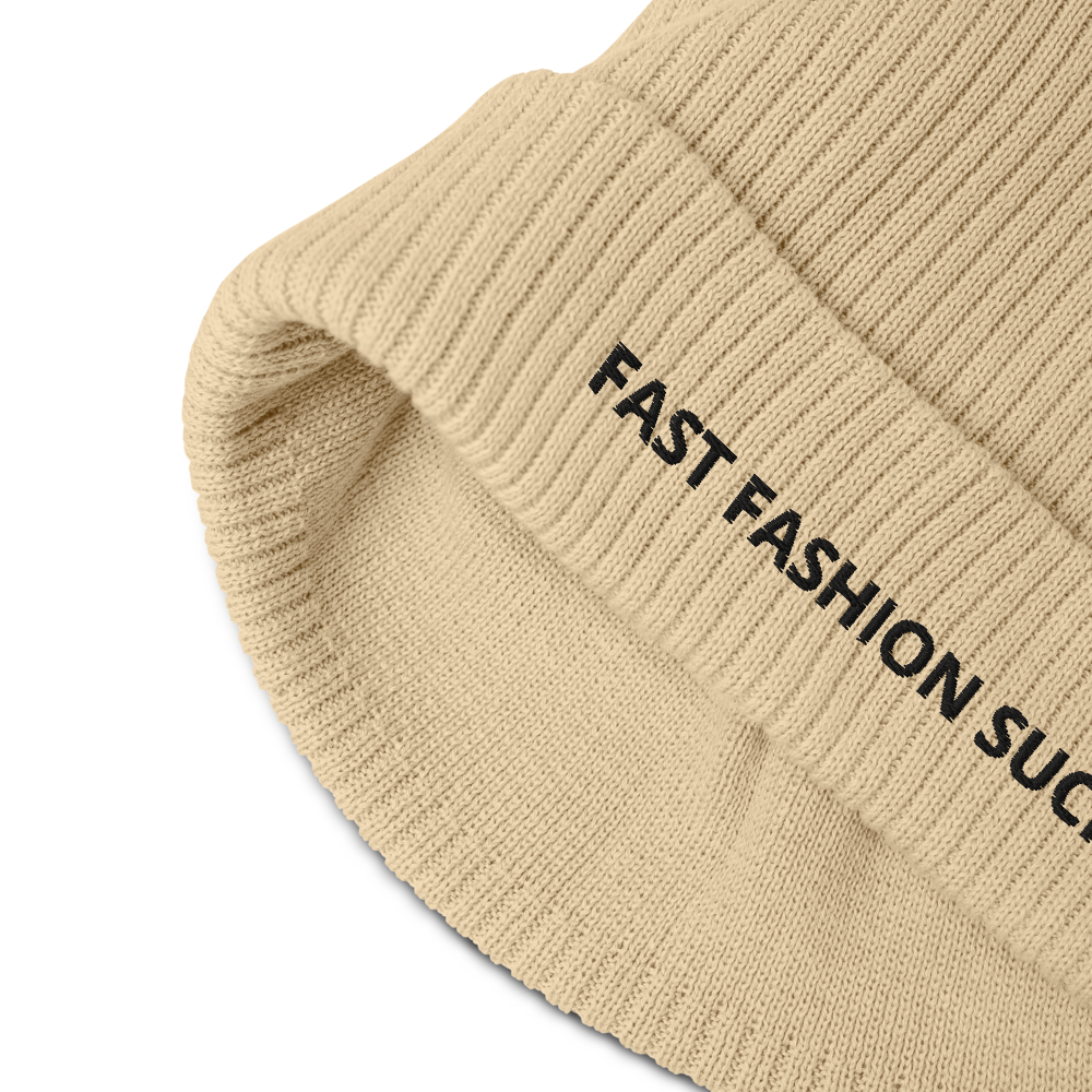 Organic ribbed beanie - AK Wears Things