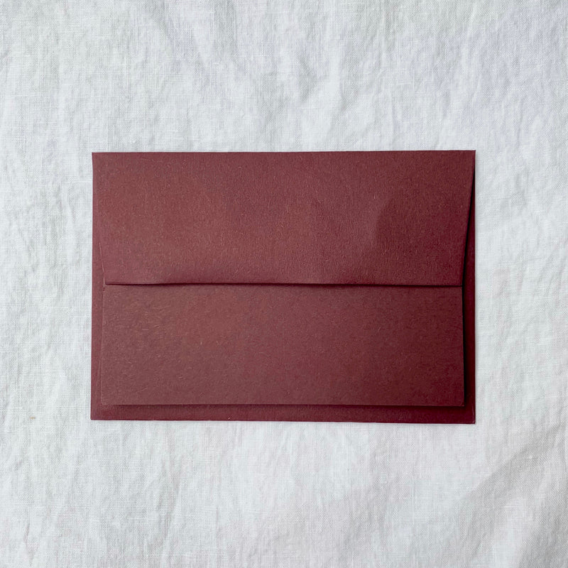 Plain Note Cards in Grape