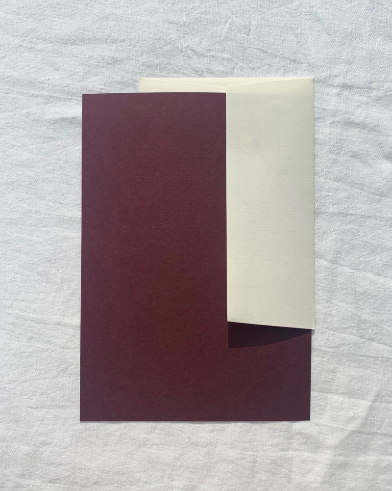 Plain Writing Paper in Grape