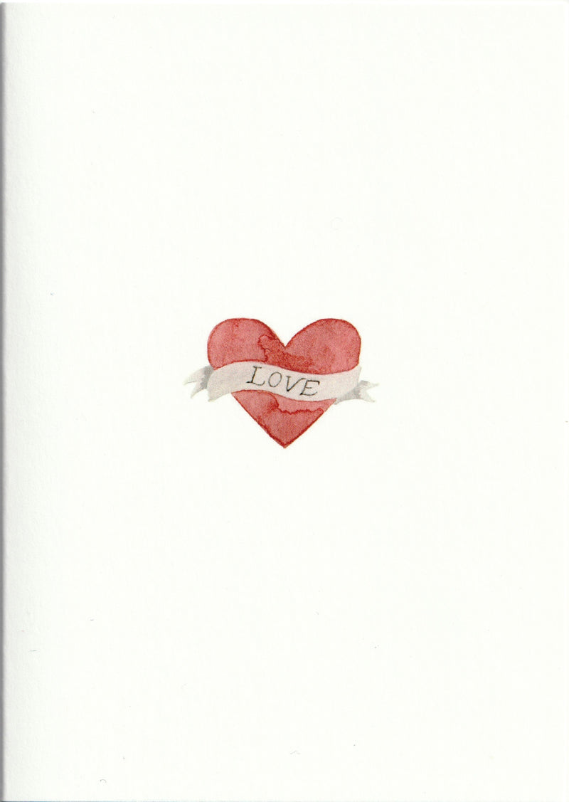 Pack of 5 Tattoo Heart Cards