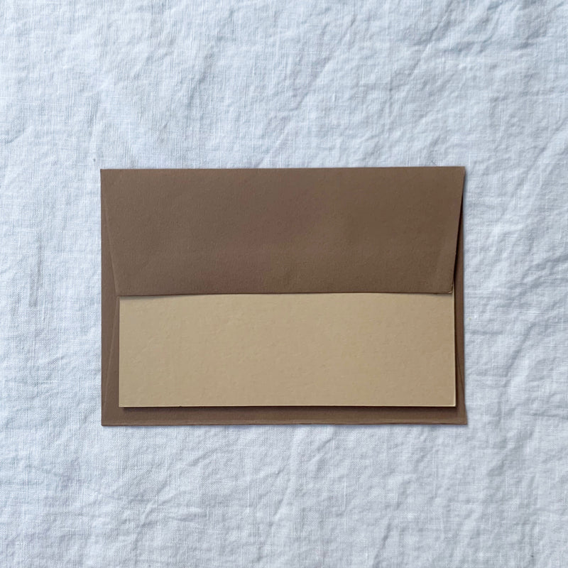 Plain Note Cards in Oat